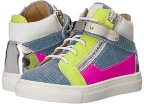 Giuseppe Zanotti Kids Ares Denim Sneaker Kid's Shoes