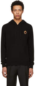 Dolce & Gabbana Black Cashmere Embroidery Hoodie