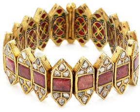 Amrapali Women's 22K Yellow Gold, Tourmaline & 4.85 Total Ct. Diamond Bracelet