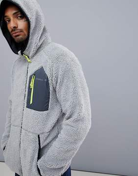 O'Neill Activewear Kinetic Borg Fleece Jacket Hooded in Gray