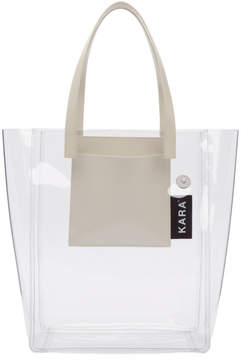 Kara SSENSE Exclusive Transparent PVC Pinch Tote