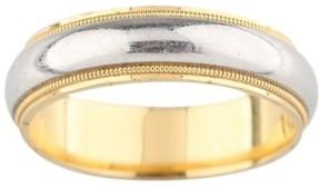 Tiffany & Co. 950 Platinum & 18k Yellow Gold Milgrain Wedding Ring Size 10.75