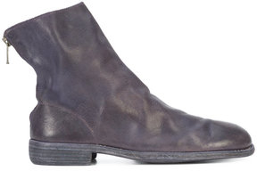 Guidi Red Stag back zip boots