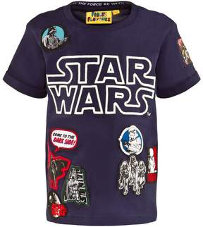 Star Wars Fabric Flavours Blue Marl Glow In The Dark Tee