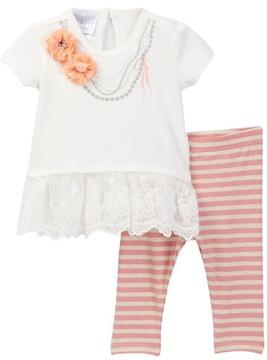 Iris & Ivy Screen Print Necklace Set (Baby Girls 12-24M)