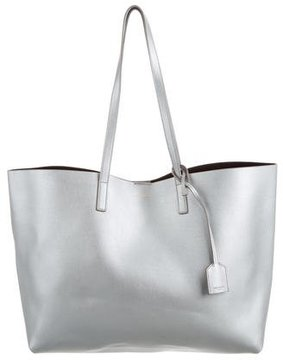 Saint Laurent E/W Shopping Tote - SILVER - STYLE