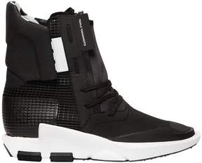 Y-3 Noci Nylon & Leather Boot Sneakers