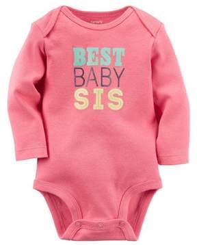 Carter's Baby Girls Best Baby Sis Bodysuit Pink