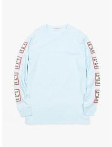 Have A Good Time Arm Frame L/s Tee - Light Blue