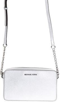 MICHAEL Michael Kors Jet Set Saffiano Leather Crossbody - SILVER - STYLE