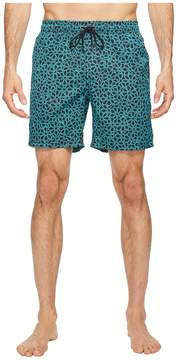 Mr.Swim Mr. Swim Floral Printed Dale Swim Trunk Men's Swimwear