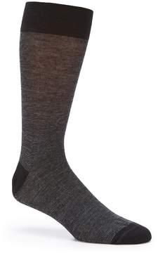 Daniel Cremieux Micro Stripe Crew Dress Socks