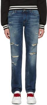 Dolce & Gabbana Blue Gold Fit Jeans