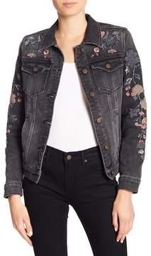 Driftwood Sequins & Floral Embroidered Denim Jacket