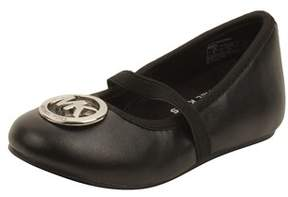 MICHAEL Michael Kors Toddler Faye Ria Strap Flats In Black.