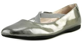 Taryn Rose Beverly Women Round Toe Patent Leather Gray Ballet Flats.