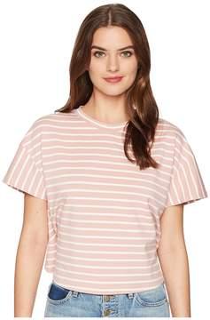 J.o.a. Back Ruffle Short Sleeve Tee Women's T Shirt