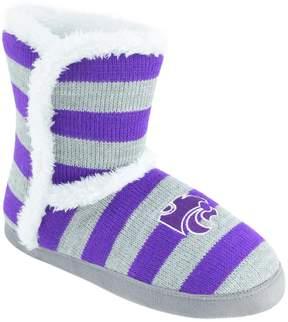 NCAA Women's Kansas State Wildcats Striped Boot Slippers