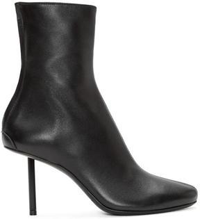 Haider Ackermann Black Leather Stiletto Bronson Boots