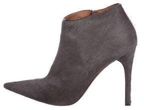 Alaia Ponyhair Pointed-Toe Booties