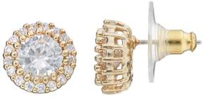 Dana Buchman Cubic Zirconia Round Halo Stud Earrings
