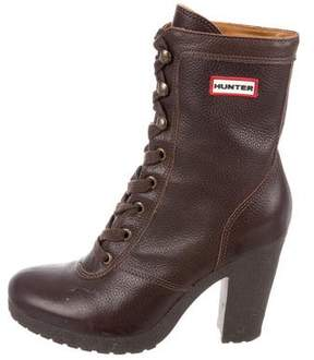 Hunter Leather Ankle Boots
