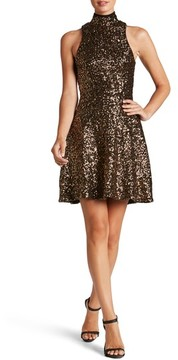 Dress the Population Women's Stevie Sequin Fit & Flare Dress