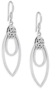 Lois Hill Medium Double Hammered Drop Earrings