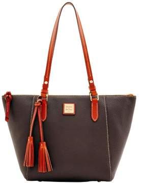 Dooney & Bourke Pebble Grain Maxine Tote - CHOCOLATE - STYLE