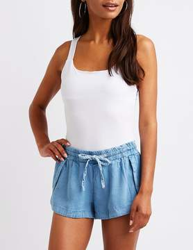 Charlotte Russe Chambray Dolphin Shorts