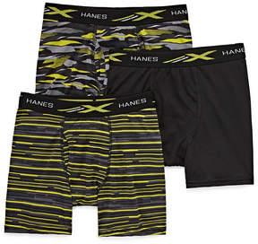 Hanes Hns Xtemp Printed Bb 3 Pair Boxer Briefs Boys