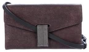 Brunello Cucinelli Mini Monili Envelope Crossbody Bag