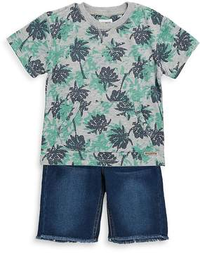 Hudson Little Boy's Two-Piece Printed Top and Shorts Set