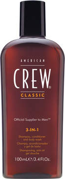 American Crew Travel Size 3-In-1 Shampoo, Conditioner and Body Wash