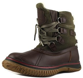 Pajar Iceland Women Round Toe Leather Brown Winter Boot.