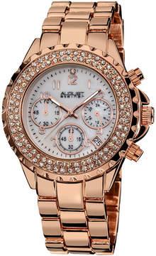 August Steiner Womens Rose Goldtone Strap Watch-As-8031rg