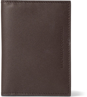 Brunello Cucinelli Full-Grain Leather Bifold Cardholder