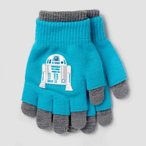 Star Wars Boys' Gloves - Blue/Gray One Size