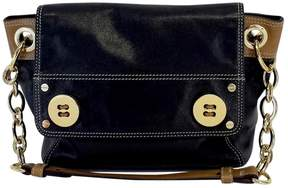 Milly Black & Tan Leather Shoulder Bag