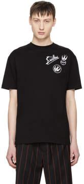 McQ Black Skater Swallow Badge T-Shirt