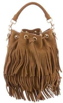 Saint Laurent Small Suede Emmanuelle Fringe Bucket Bag