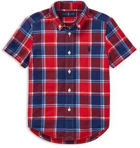 Polo Ralph Lauren Boys' Short-Sleeve Madras Shirt - Little Kid