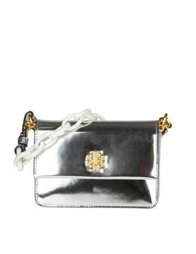 Tory Burch Handbag Kira Mini In Skin Color Silver Mirror - SILVER/WHITE - STYLE