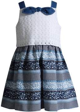 Youngland Toddler Girl Floral Crochet Dress