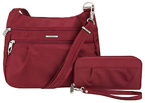 Travelon Anti-Theft Double Zip Crossbody Bag & Wallet Set