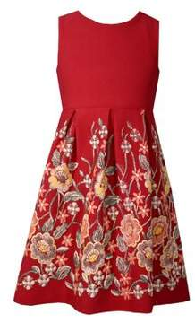 Iris & Ivy Girl's Pleated Floral Dress