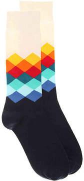 Happy Socks Men's Diamond Dress Socks
