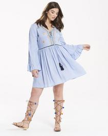 Alice & You Alice and You Mirror Detail Smock Dress