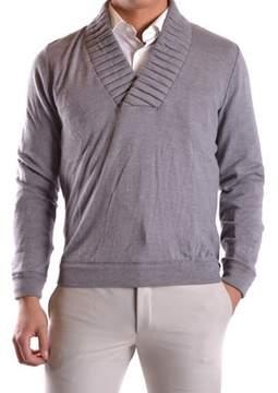 Frankie Morello Men's Grey Wool Sweater.