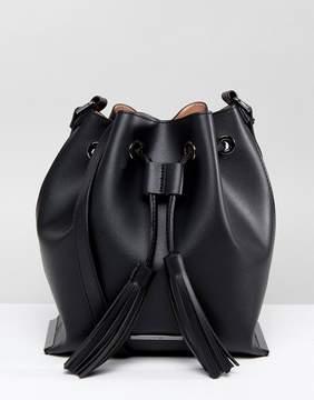 ALDO Roundlake Tassel Bucket Bag